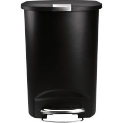 Semi-Round Plastic Can