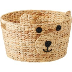 Bear Water Hyacinth Round Bin found on Bargain Bro India from The Container Store for $15.99