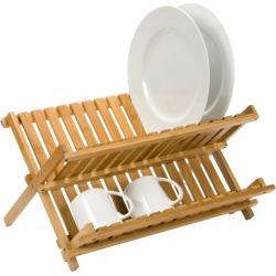Folding Bamboo Dish Rack
