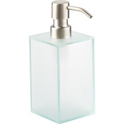 Dimpled Glass Soap Pump