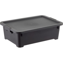 Rolling Plastic Storage Tote found on Bargain Bro India from The Container Store for $24.99