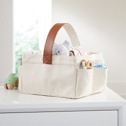 Leather Handle Diaper Caddy found on Bargain Bro from  for $39