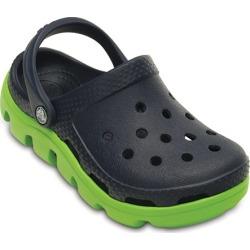 Crocs Navy / Volt Green Duet Sport Clog Kids Shoes