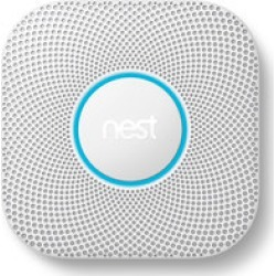 Nest Protect w/ Battery (White) 2nd Gen  Smoke & Carbon Monoxide Detector found on Bargain Bro India from Crutchfield.com for $119.00