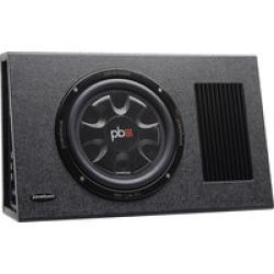 "PowerBass PS-AWB101T  Single 10"" Thin Loaded Enclosure Powered"