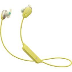 Sony WISP600N/Y wireless in-ear sport  noise cancelling headphones (yellow