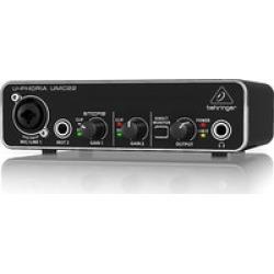Behringer UMC 22  2x2 USB Audio/midi Interface Midas Pre