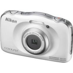 Nikon Coolpix W100 Camera White - 13MP, 3X, 2.7 LCD,  33' Waterproof
