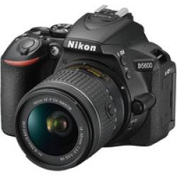 Nikon D5600 DX-Format Digital DSLR, w/  18-55mm VR  Black, 24.2MP,5fps, ISO to 25,600, HD