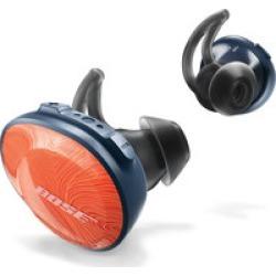 Bose SoundSport Free wireless Bluetooth headphones (orange/navy)