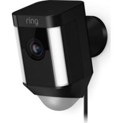 Ring Spotlight Camera Wired- Black