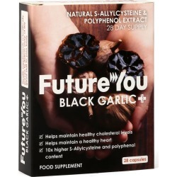 FutureYou Cambridge - Odourless Black Garlic+ Supplements - Cholesterol & Heart Supplements - 84 Capsules
