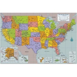 Stick on USA Wall Map
