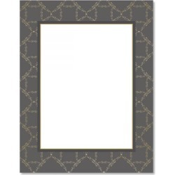 Charcoal Damask Frame Christmas Letter Papers found on Bargain Bro from currentcatalog.com for USD $6.07