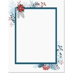 Blue Holiday Flourish Christmas Letter Papers found on Bargain Bro from currentcatalog.com for USD $6.07