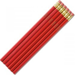 Red #2 Hardwood Personalized Pencils