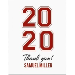 Personalized Collegiate Thank You Cards - Light Stock