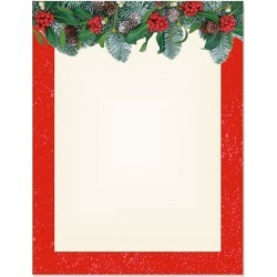 Red Winter Filigree Christmas Letter Papers found on Bargain Bro from currentcatalog.com for USD $6.07