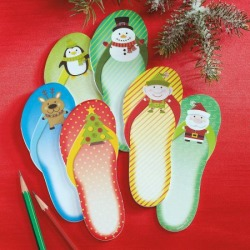 Christmas Flip-Flops Sticky Notes