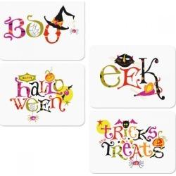 Die-Cut Tricks and Treats Halloween Cards
