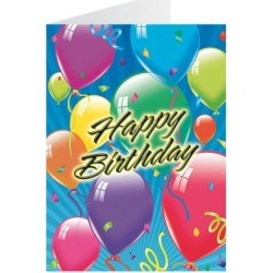 Floating Balloons Birthday Cards found on Bargain Bro India from currentcatalog.com for $4.99