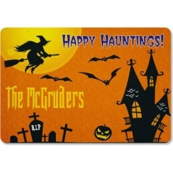 Scary House Personalized Doormat