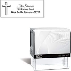 Simple Cross Pre-Inking Address Stamp found on Bargain Bro India from currentcatalog.com for $19.99