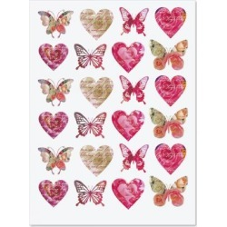 Roses, Hearts, & Butterflies Stickers found on Bargain Bro Philippines from currentcatalog.com for $1.98