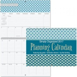 2017 Simply Organized Big Grid Calendar found on Bargain Bro India from currentcatalog.com for $9.99