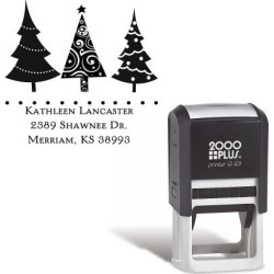 Christmas Trees Square Self-Inking Address Stamp found on Bargain Bro Philippines from currentcatalog.com for $18.99