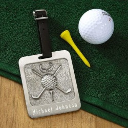 Pewter Personalized Golf Bag Tag found on Bargain Bro from currentcatalog.com for USD $13.67