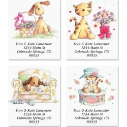 Cats & Dogs Select Address Labels (4 Designs)