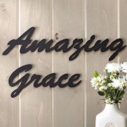 Amazing Grace Metal Words