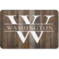 Wood-Grain Personalized Doormat