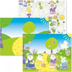 Easter Scenes with Sticker Sheets