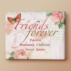 Friends Forever Personalized Canvas Print