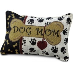 Tapestry Dog Mom Pillow