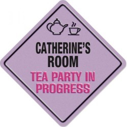 Girl's Tea Party Sign