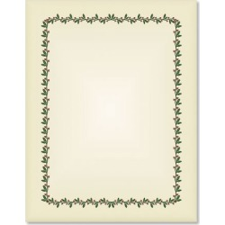 Ecru Holly & Berry Frame Christmas Letter Papers found on Bargain Bro from currentcatalog.com for USD $6.07