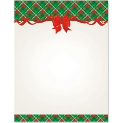 Plaid & Ribbon Christmas Letter Papers found on Bargain Bro from currentcatalog.com for USD $6.07