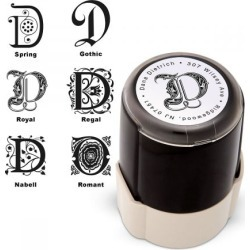 Center Initial Round Self Inking Address Stamp found on Bargain Bro India from currentcatalog.com for $24.00