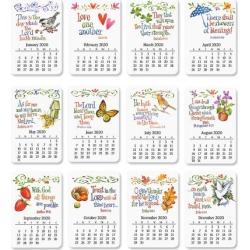 Faith 2020 Calendar Magnets