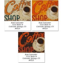 Coffee Shop Select Address Labels (3 Designs)