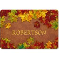 Autumn Color Personalized Doormat