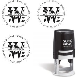 Last Name Monogram Round Self-Inking Address Stamp found on Bargain Bro Philippines from currentcatalog.com for $22.99