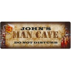 Man Cave Double-Width Personalized Doormat