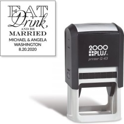 Eat, Drink, Be Married Square Self-Inking Address Stamp found on Bargain Bro India from currentcatalog.com for $19.99