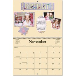 2019 Blank Crafters' Colored Page Calendar
