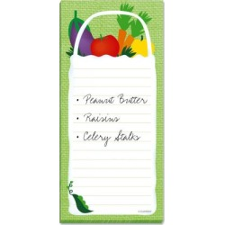 Grocery Bag Magnetic Shopping List Pad