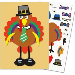 Make-A-Turkey Sticker Sheets found on Bargain Bro Philippines from currentcatalog.com for $3.99